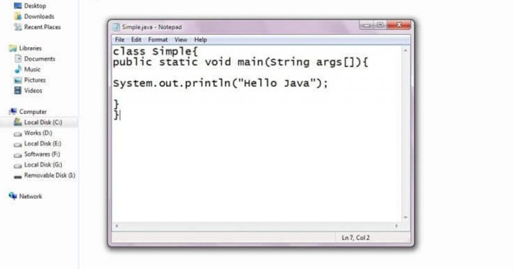 Viết chương trình Hello Java bằng notepad